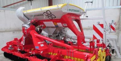 Pottinger Aerosem 4002AD and FoxD Power Harrow