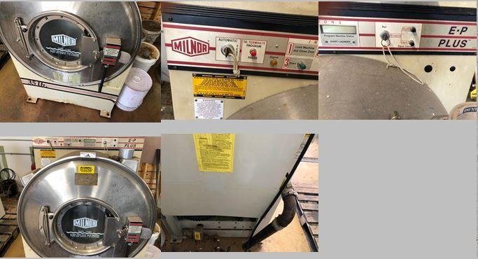 Milnor 300-15M6J 35lb washer