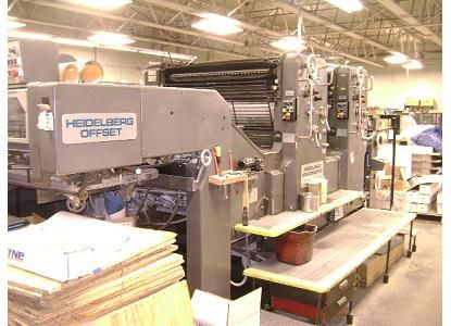 Heidelberg 102 ZP, 2 Colors Offset Machine Max. 72 x 102 cm