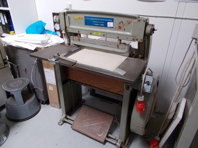 Sanderson El-creasing machine