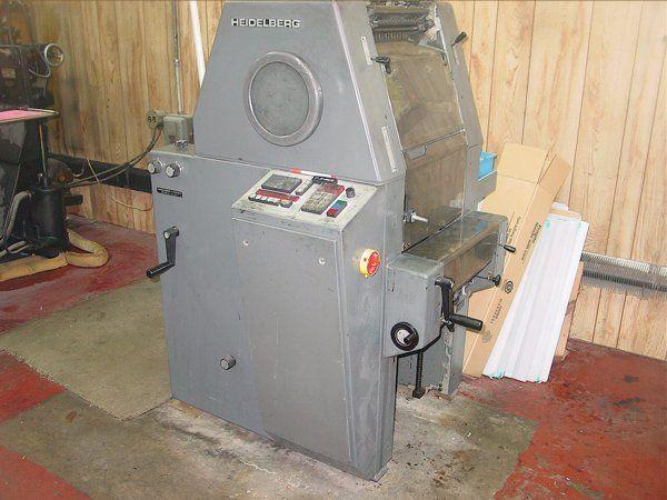 Heidelberg TOK , 1 color Offset machine 10 X 15.5 Inches