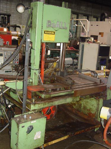 DoAll TF-1421H Vertical Band Saw Semi Automatic