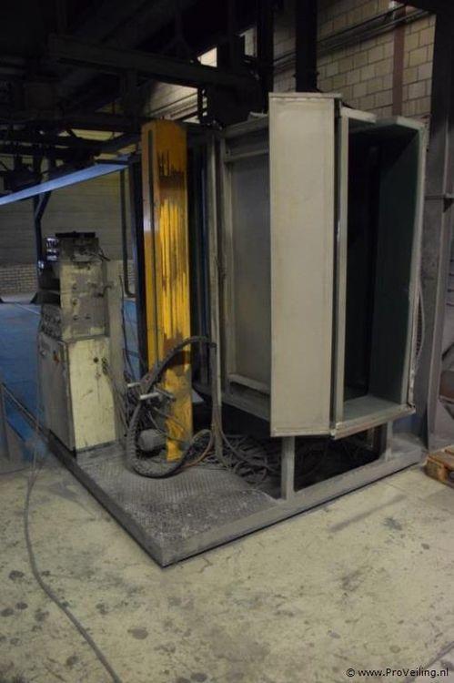 Powder coating installation