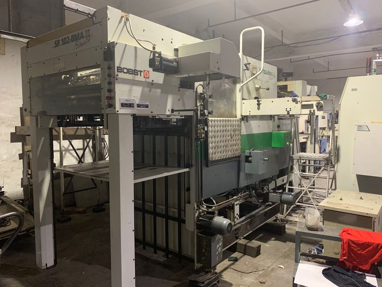 Bobst SP 102BMA Hot foil stamping & die cutting machine