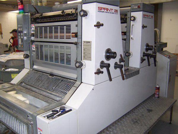 Komori S226, 2 colors Offset machine 19 X 26 Inches