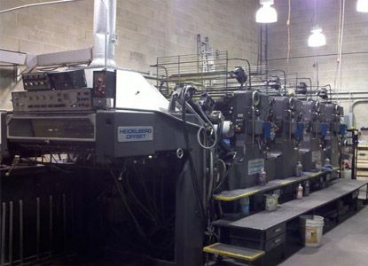 Heidelberg 102 V, 4 Colors Offset Machine Max. 72 x 102 cm