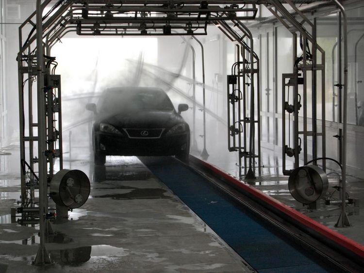 Others Conveyor tunnel car wash system Hanna with PDI belt conveyor