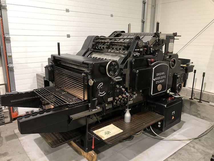 Heidelberg Cylinder S, Die cutting machine  540x720mm