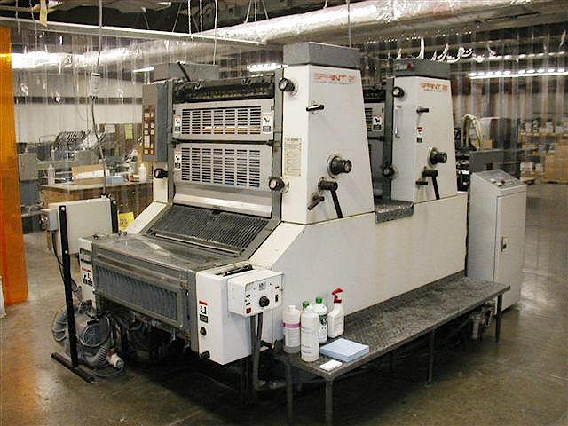 Komori S226, 2 colors Offset machine 48 X 66 Cm