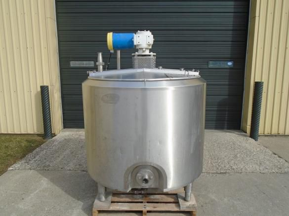 APV Crepaco Sanitary SS Processor Jacketed Tank - 200 Imperial Gallons