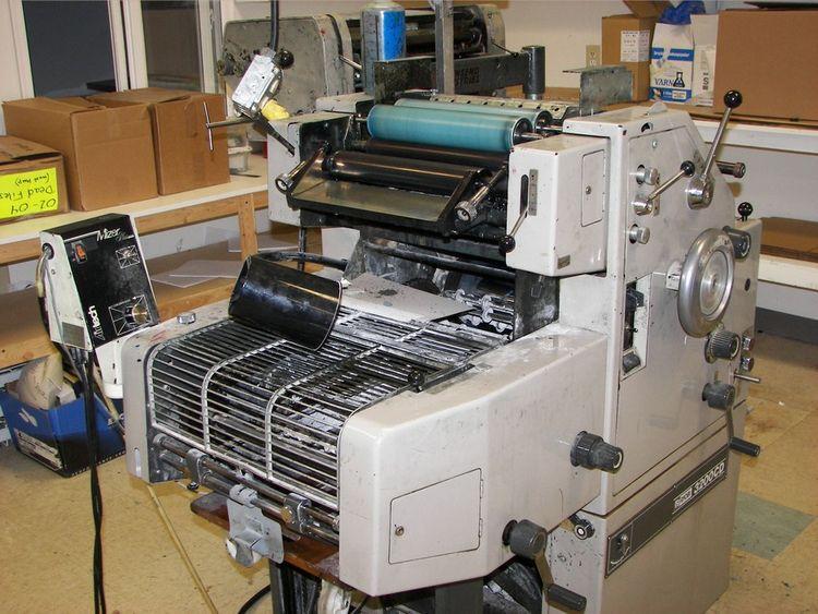 "Ryobi 3200 CD, 2 colors Offset machine 12"" X 18"""