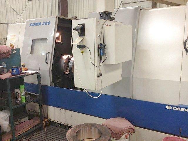 Daewoo FANUC 18T CNC CONTROL Max. 2000 rpm PUMA 400B 2 Axis