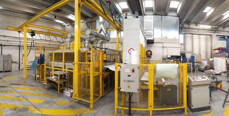 Schaetti powder coating/lamination line, yoc: 1995 – refurbished in 2004, ww: 3 m