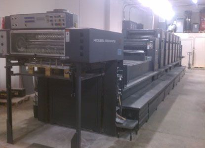 Heidelberg CD 102-6+LX, 6 Colors Offset Machine Max. 72 x 102 cm