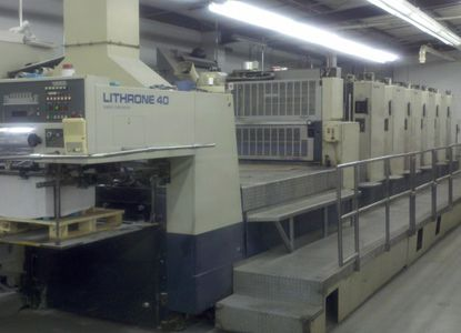 Komori L640 LX. 6 Colors Offset Machine Max. 72 x 102 cm