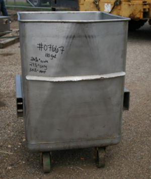 Others Single Shell Stainless Steel Square Tank 110 Gal