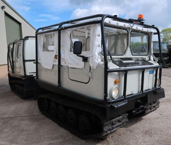 10 Hagglunds BV 206 Soft Top Personnel Carrier With Roll Cage