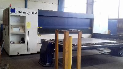 Trumpf TRULASER 1030 FIBER LASER CUTTER CNC Control B&R Automation PC 820