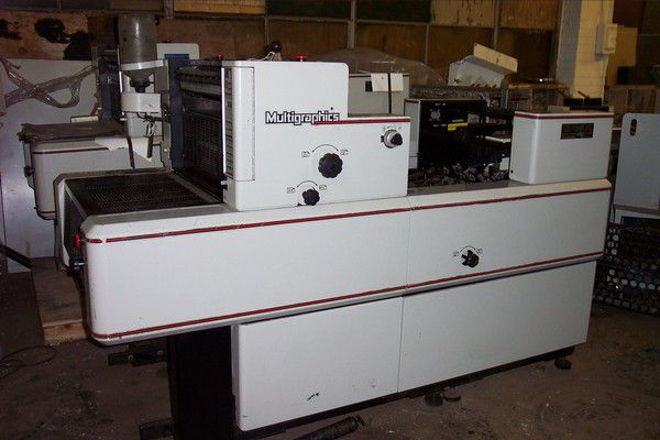 "Multigraphics 5210, 1 color Offset machine 14""x20.5"""