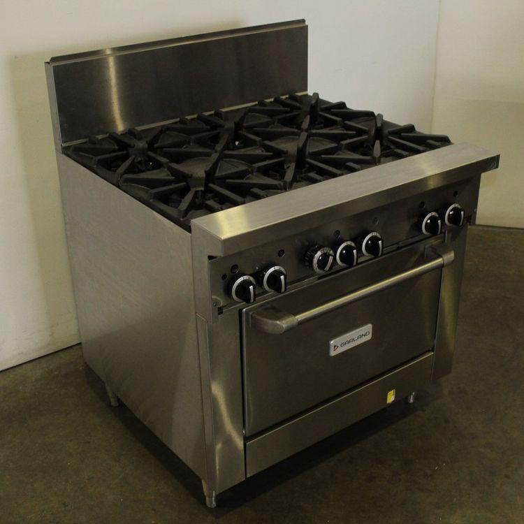 Garland GF36-6R 6 Burner Range Oven