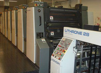 Komori L628-LX, 6 Colors Offset Machine