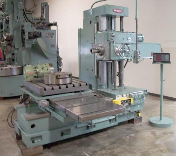 Toshiba Shibaura, Table Type Horizontal Boring Mill Machine 3 inches Max. 1180 Rpm