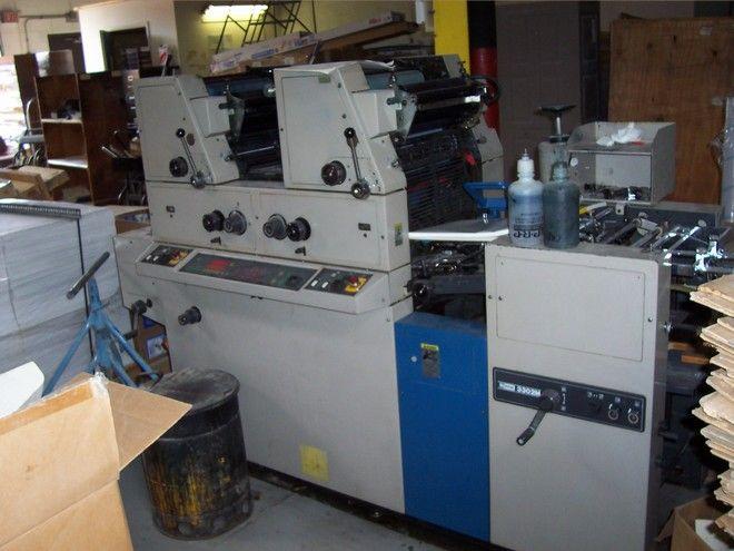 "Ryobi 3302 M, 2 colors Offset machine 13"" X 18"""