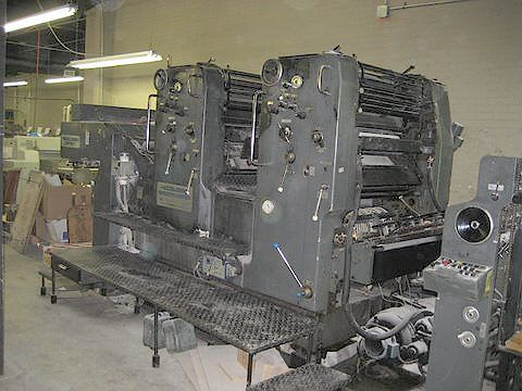 Heidelberg SM72Z, 2 colors Offset machine 52 X 72 Cm