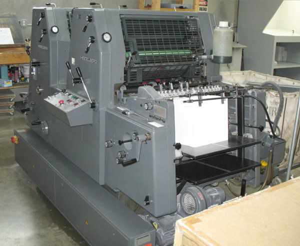 Heidelberg GTO52Z, 2 colors Offset machine 36 X52 Cm