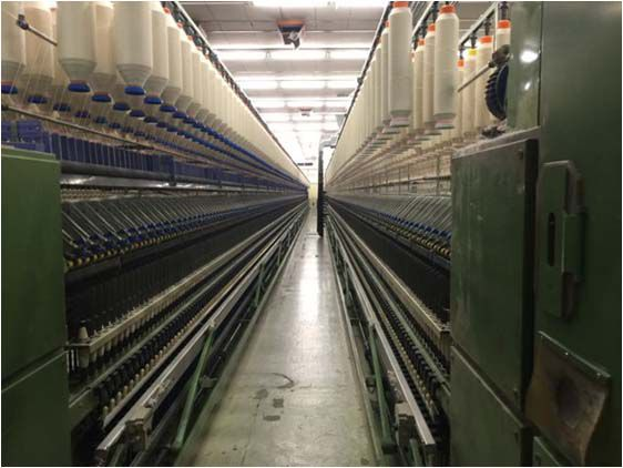 Marzoli, Schlafhorst NSFL/700 Ring Spinning Frames linked with winders