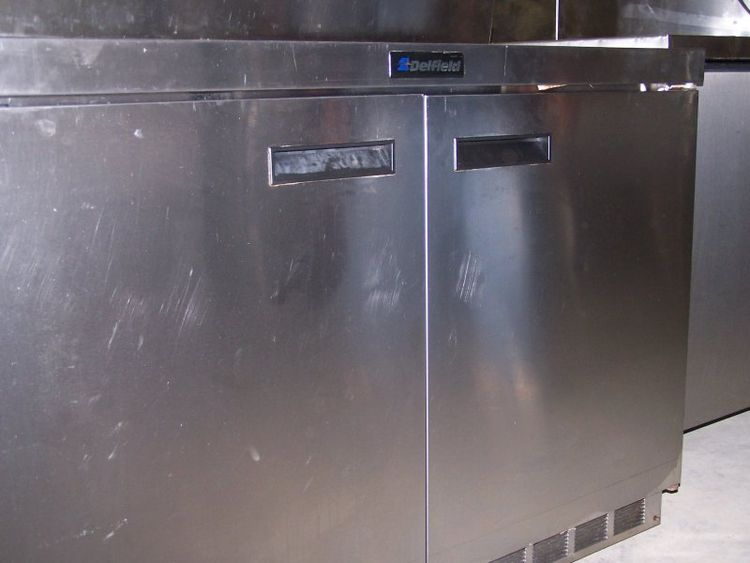 Delfield Double-Door Worktop Commercial Refrigerator