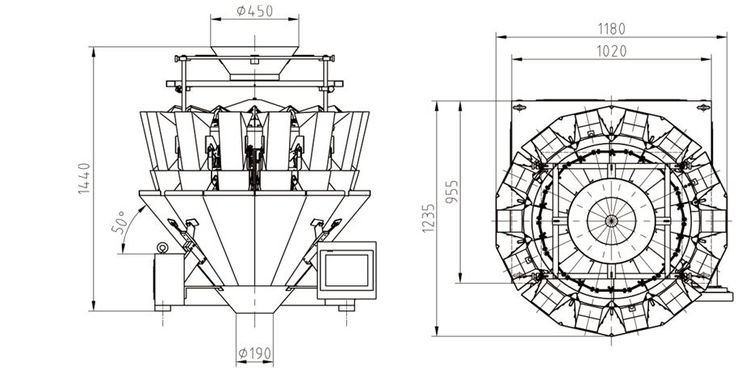 AP-M10 multihead weigher for food packaging