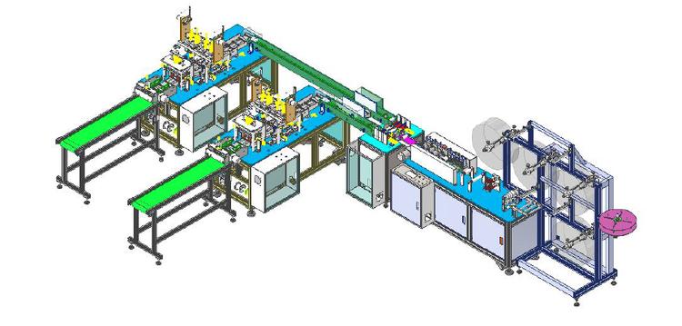 Chinese made Mask machine, STERILIZER, PACKING MACHINE - Maszyna do produkcji maseczek