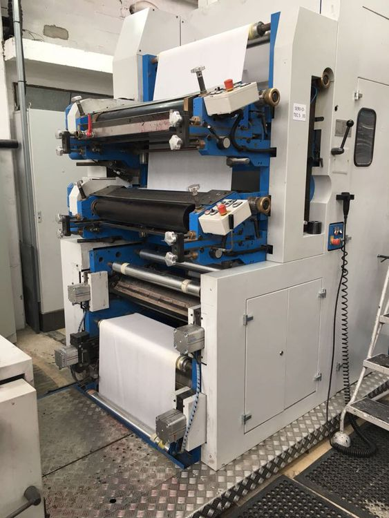 SERVOTEC 1/4 fold 33 or 40cm, double line, 2 col. print napkin line, almost new of 2013!