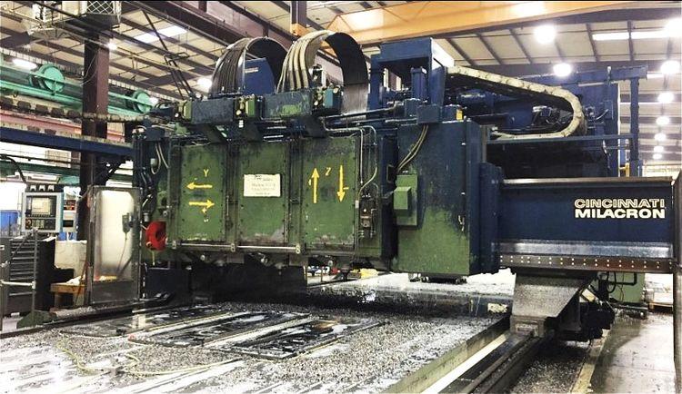 Cincinnati 3-Spindle CNC Gantry Mill 5 Axis
