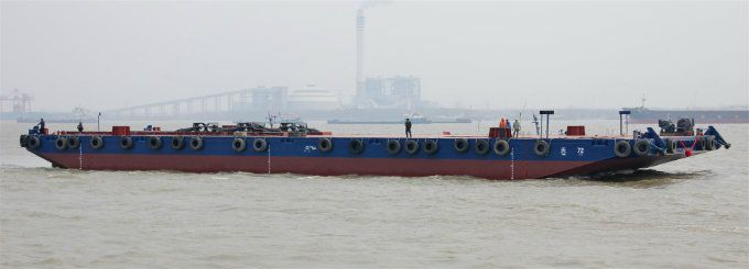 Deck Cargo And Ballastable Tank Barge