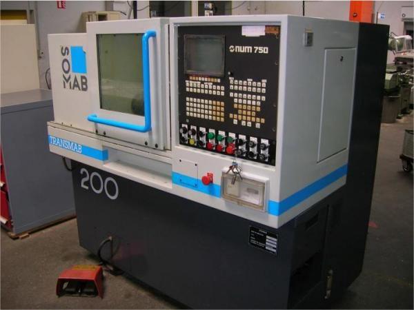 Somab NUM 750T CNC Variable TRANSMAB 200 2 Axis