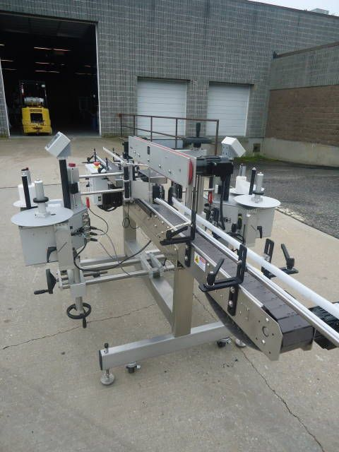 Quadrel MODULINE, AUTOMATIC FRONT AND BACK PRESSURE SENSITIVE LABELING MACHINE