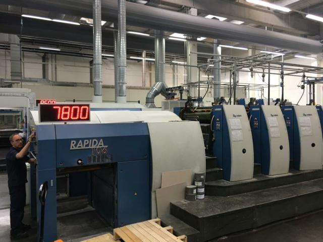 KBA Rapida RA106-8 SW 740mm x 1060 mm