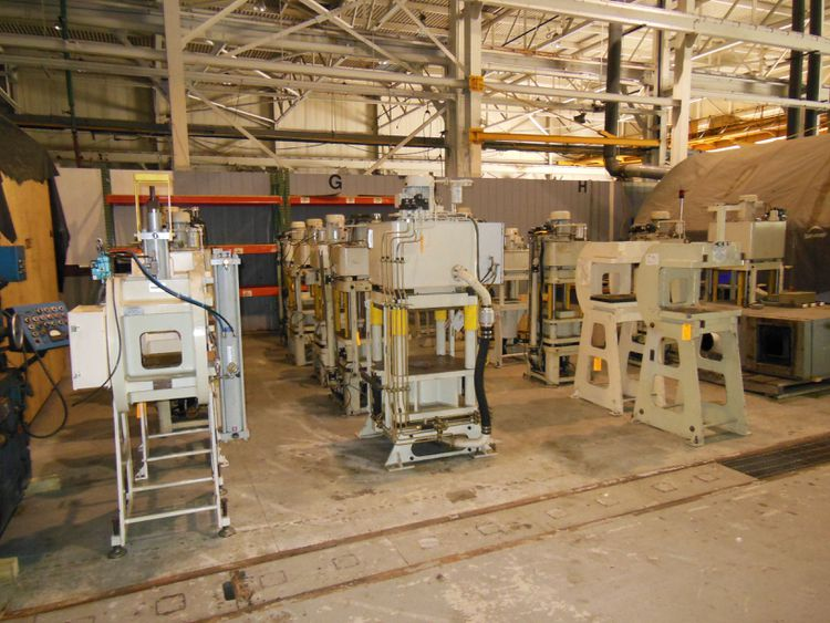 19 Fisher DYNAMICS UP ACTING HYDRAULIC 4 POST PRESS, C-FRAME PRESSES, C-FRAME STANDS 60 TON & 40 TON