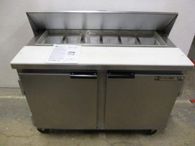 Beverage Air SP48-12 , 2 Door Refrigerated Sandwich Prep Table
