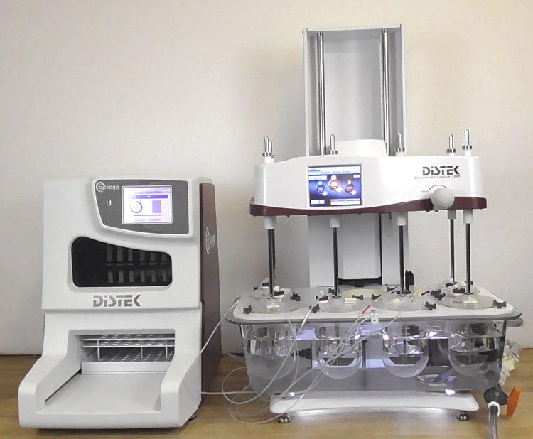Distek 2500 Dissolution System with TCS-0500 Heater & Eclipse 5300 Dissolution Sampler