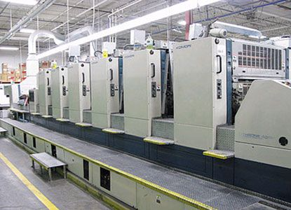 Komori L640 RP UV, 6 Colors Offset Machine Max. 72 x 102 cm