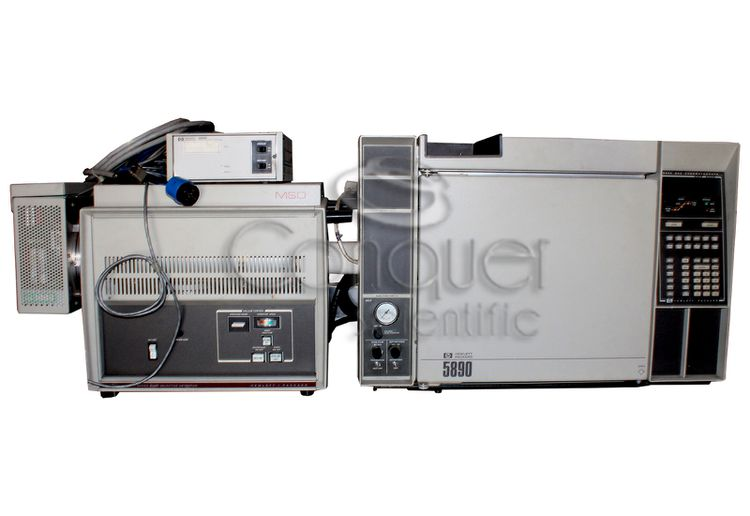 Hewlett Packard 5890A GC with 5970 MSD  59822B Ionization Gauge Controller