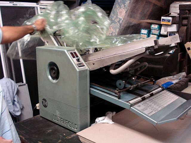 Baum 714 Ultrafold, Folder Machine
