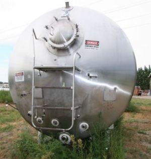 Walker Horizontal Aseptic Stainless Steel Tank 6,000 Gallon