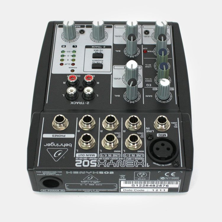 Behringer XENYX 502 5-Channel Compact mixer