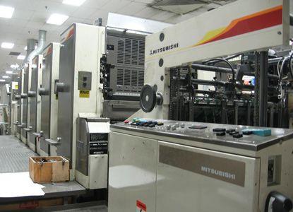 Mitsubishi 3F 5/C +C press. 5 Colors Offset Machine Max. 72 x 102 cm