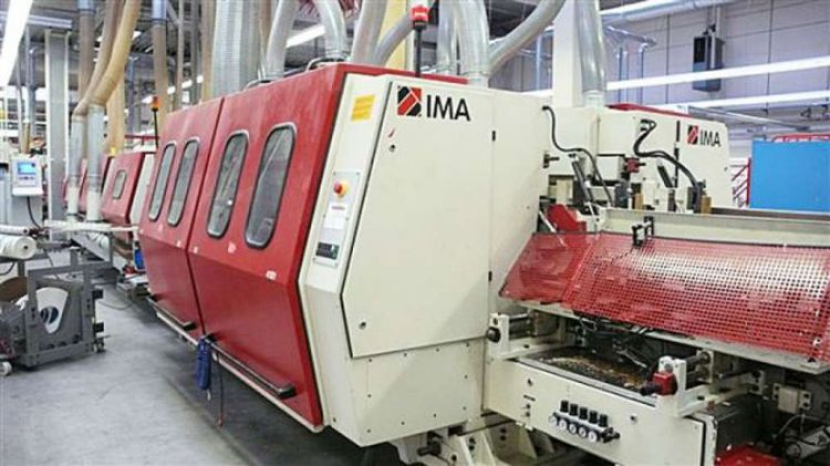Ima Combima/K/II/R75/845/V/R3 Sizing and Edge Processing Line with Feeding and Stacking Plant
