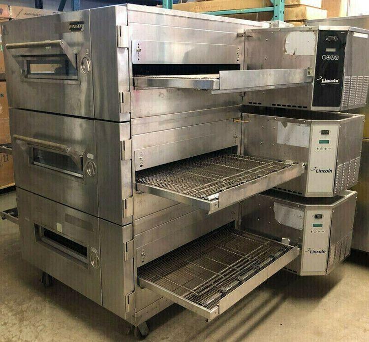 Lincoln 1600 Triple Conveyor Pizza Ovens